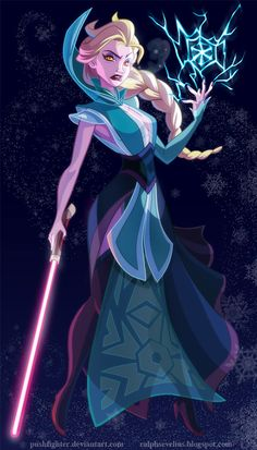 Elsa from Frozen as a Star Wars Sith Inquisitor