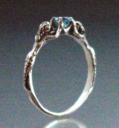 Two+Mermaids+Ring+with+Blue+Topaz+or+Other+by+SheppardHillDesigns,+$45.00