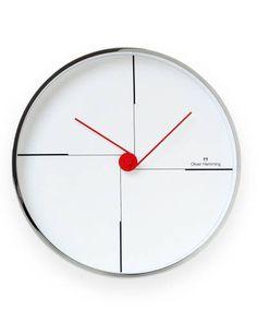 Found it at AllModern - Wall Clock with Scroll Motif Living Room Clocks, Cool Clocks, Modern Clock, Wall Clock Design, Clock Decor, Gifts For Office, Large Clock, Elle Decor, Gadgets