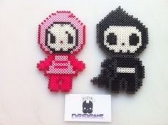 TokiDoki Ciao Ciao Adios Til Death Do Us Part Perler Bead Sprite Art Set (2)-MAGNETS on Etsy, $15.00