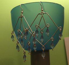 Wire earrings.