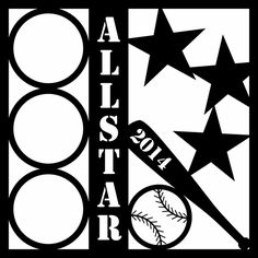 AllStar Baseball Custom Overlay Laser Die Cut