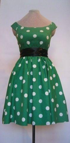 Green and polka dots- my 2 favorite things