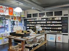 Best Stationery Stores in Seattle - super cool Pike Street Press. It's got a beautiful antique Heidelberg windmill letterpress machine.