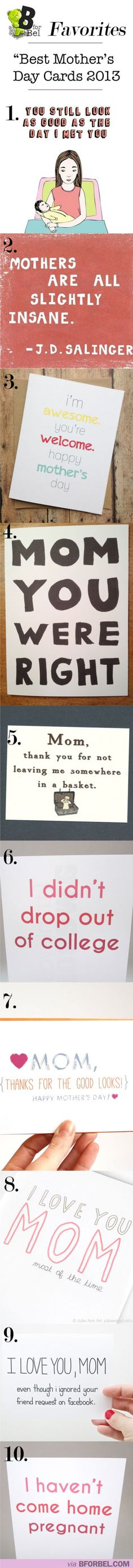 Best Mother's Day Cards.i hope one day i can get a card like this* fingers crossed*
