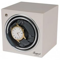Buy online brand new Single Automatic Watch Winder Rapport London Evolution White from official dealer. London Watch, Watch Holder, Leather Pillow, Jewelry Case, Watch Case, Automatic Watch, Evolution, Watches, Cube