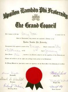 National Membership Certificate