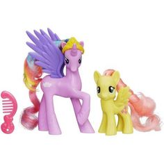 My Little Pony Princess Cutie Mark Magic Princess Sterling and Fluttershy Figure Set, Multicolor