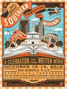 2012 poster for SoFest. It was awesome, had my books signed by Gillian Flynn (Gone Girl), Junot Diaz (This Is How You Lose Her), and Chris Pavone (The Expats).