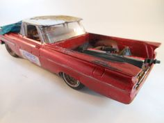 1959 El camino 1/24 scale model car in red by classicwrecks, $77.50