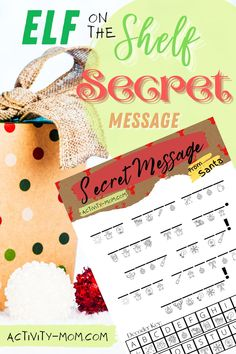 Elf on the Shelf Secret Message FREE printable
