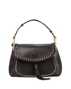Hudson Leather Double-Carry Bag, Black by Chloe at Bergdorf Goodman.