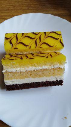 Citrónový rez... Pavlova, Vanilla Cake, Food And Drink, Food Cakes, Deserts, Bakken