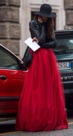 This red skirt is EVERYTHING!