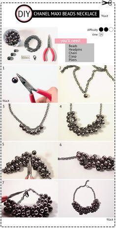 DIY Chanel Maxi Beads Necklace DIY Jewelry DIY Necklace