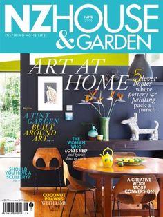 Nz House & Garden May 2016 Issue- Art at Home - Pottery Painting  #NzHouseandGarden #HomeArt #NZHouseGarden #ebuildin