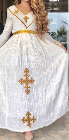 Ethiopian Wedding Dress, Ethiopian Dress, Habesha Kemis, Eritrean, Ethiopian Traditional Dress, Traditional Dresses, African Wear, African Fashion, Culture Clothing