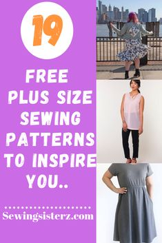 List of free plus size sewing patterns for women from around the web. # Dress Patterns Plus Size Free Plus Size Sewing Patterns Free Printable Sewing Patterns, Beginner Sewing Patterns, Plus Size Sewing Patterns, Dress Sewing Patterns, Free Sewing, Beginners Sewing, Skirt Patterns, Coat Patterns, Blouse Patterns