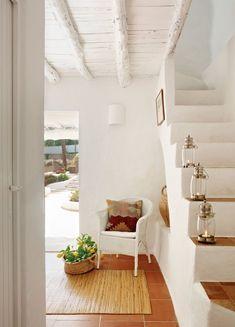 mediterranean home decor Interior Architecture, Interior And Exterior, Interior Design, Stairs And Doors, Mediterranean Decor, Ibiza, My Dream Home, Decoration, Sweet Home