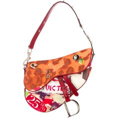 Christian Dior Victim Saddle Bag ($295) ❤ liked on Polyvore featuring bags, handbags, shoulder bags, white purse, multicolor handbags, colorful handbags, single strap shoulder bag and christian dior handbags