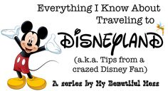 This blog is the best one I have found with tips for traveling to Disneyland.