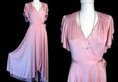 70's SULTRY WRAP DRESS 1970's Disco Fluid by BabyGypsyEyesVintage