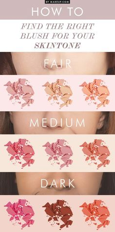 How To Find The Right Blush For Your Skin Tone I #makeup #cosmetics #beauty…