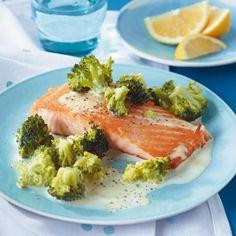 Lachs mit Broccoli-Rahm