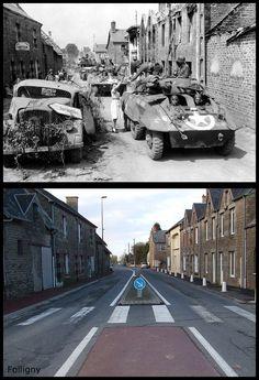 Truppe Americane entrano in Folligny Normandia #Giugno1944
