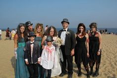 Angelique and Michael Torre and family, of Middlesex, NJ, dressed as a wedding party to celebrate the couple's 22nd anniversary for the annual Zombie Walk in Asbury Park, NJ on October 5, 2013 #ZombieWalk #Zombies #AsburyPark #NewJersey #NJZombieWalk