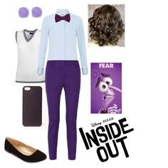 Pinning for hair inspiration. Disney pixar inside out movie fear fashion outfit idea