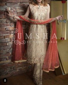 Beautiful ornate suit by #UMSHA by@uzmababar http://umshaofficial.com/ ~