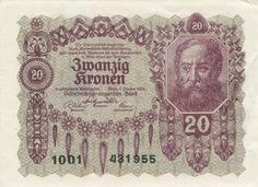 20 Kronen 1922, Österreichisch-Ungarische Bank