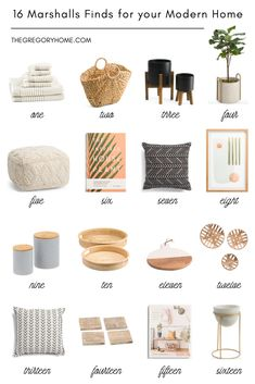 16 Marshalls Finds for your Modern Home Home Office Accessories, Home Furnishing Accessories, Unique Home Decor, Cheap Home Decor, Ikea Home, Decorating Coffee Tables, Marshalls, Home Bedroom, Bedroom Decor