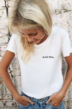 Brandy ♥ Melville | Margie Uh Huh Honey Embroidery Top - Graphics