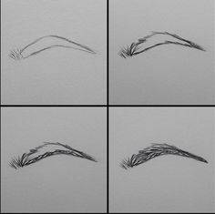 How to draw eyebrows. This makes so much sense if you relate it to how you apply eyebrow pencil when putting on makeup