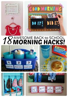 18 Back to School Morning Routine Hacks #backtoschool