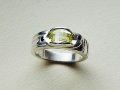 Sterling silver ring with cubic zirconias Design&Handmade by K.Tokar