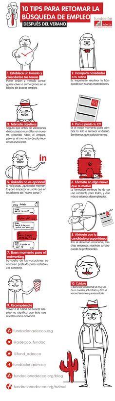 10 consejos para buscar empleo después de vacaciones #infografia #infographic #empleo