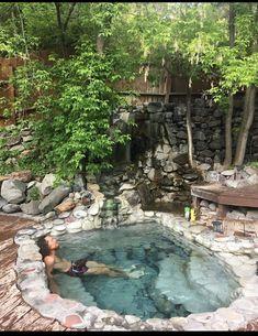 Small Backyard Pools, Small Pools, Swimming Pools Backyard, Ponds Backyard, Backyard Patio, Backyard Landscaping, Hot Tub Garden, Small Pool Design, Natural Swimming Pools