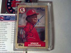 (2004) Topps Original Signature Edition VINCE COLEMAN 223/299