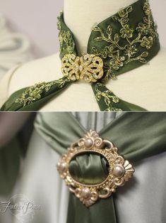 Mermaid elf hair barrette in green bronze fairy fantasy girl hair jewelry gift woman