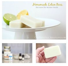 Homemade Lotion Bars tutorial. Great handmade gift for Mother's Day!