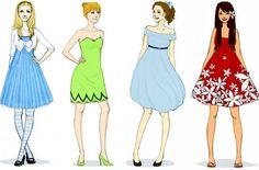 Ilustração das Princesas da Disney feita por Karen Deviant