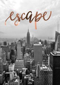 Koper folie New York City Print reisfotografie door PeppaPennyPrints