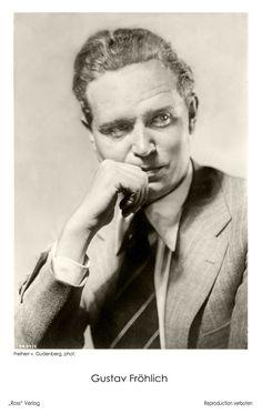 Gustav Fröhlich (1902 - 1987). Diese Künstler-Postkarte wurde im Dritten Reich veröffentlicht, wo Gustav Fröhlich in etlichen Unterhaltungsfilmen zu sehen war. (Foto Freiherr von Gudenberg) Star Wars, Movie Stars, Famous People, German, Celebrities, Classic, Movie, Pictures, Actors