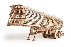 Wood Trick Mechanical Model Tank Trailer Wooden Puzzle, Assembly Constructor, Brain Teaser, Best DIY Toy, IQ Game for Teens and Adults Wooden Model Kits, Creative Thinking Skills, Making Wooden Toys, Wooden Music Box, Big Rig Trucks, Laser Cut Wood, Laser Cutting, Wooden Puzzles, 3d Puzzles