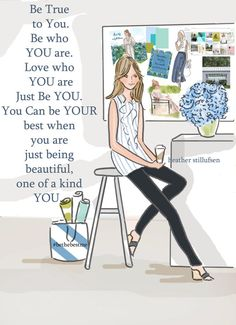 Be TRUE to YOU Inspirational Art by RoseHillDesignStudio