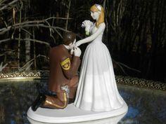 Deputy Sheriff cop law enforcement prince wedding by spartacarla, $125.00