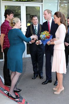 Prince William, Duke of Cambridge and Catherine, Duchess of Cambridge are welcomed to the youth community centre, The Northern Sound System in Elizabeth on April 23, 2014